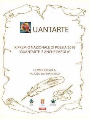 copertina con logo quantarte del concorso di poesia