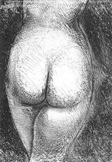 posteriore di modella nelle poesie erotiche d'amore e desiderio