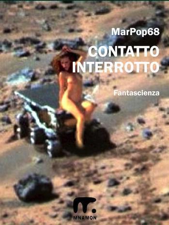 romanzo di fantascienza: donna nuda su navicella spaziale