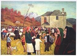 festa campestre con villici