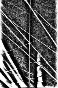 poesia e fotografia: linee chiare che si attraversano su fondo grigio