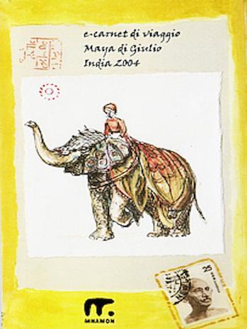 carnet di viaggio india con elefante in copertina