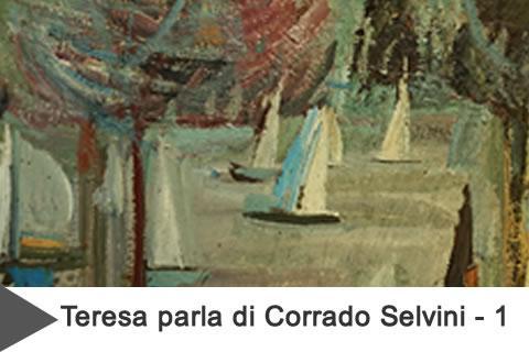 tela con vele di Selvini grande pittore italiano del 900