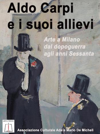 arte italiana del secondo dopoguerra: un particolare del dipinto di carpi discussione in piazza