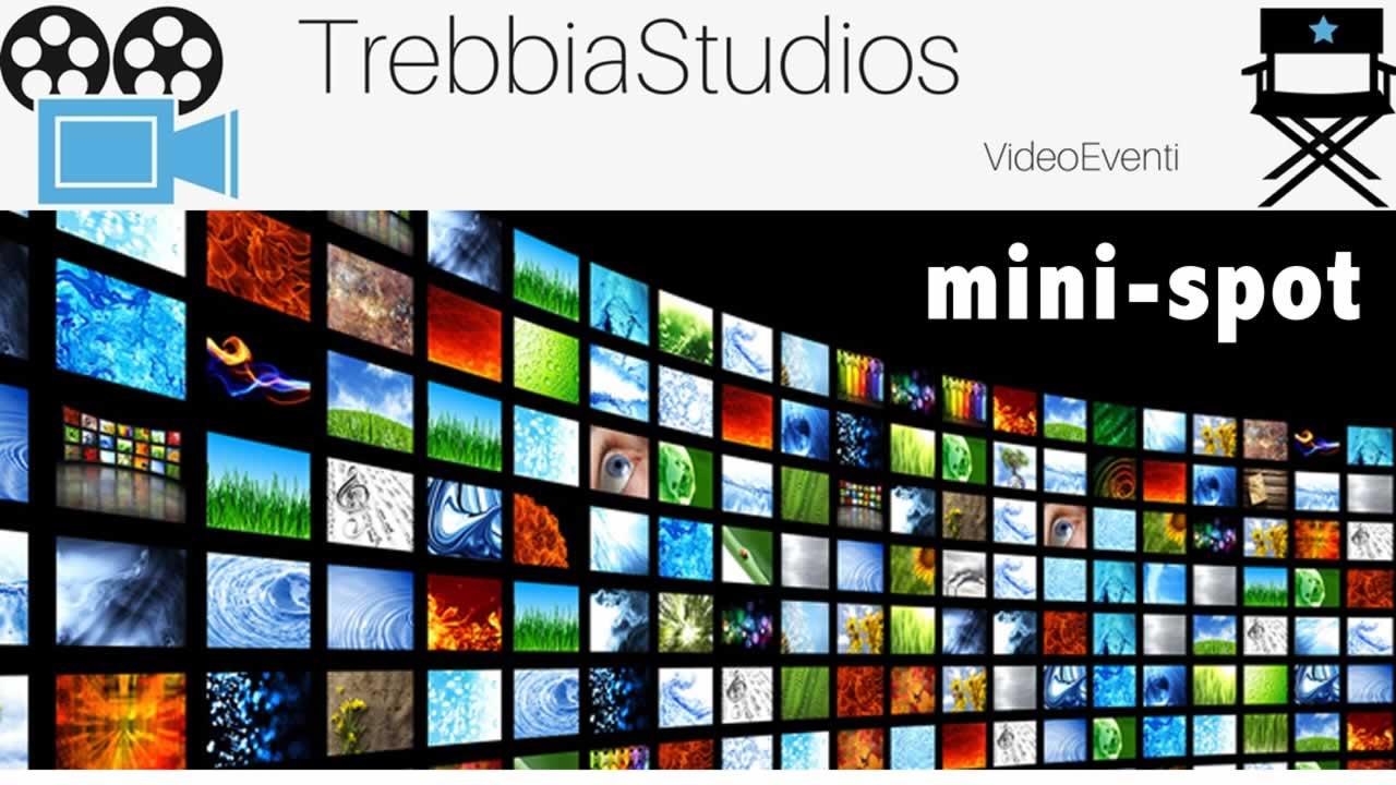 schermi tv con scritta trebbia studios