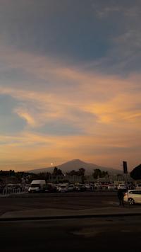 catania al tramonto con l'etna