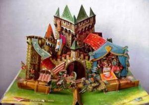castello che esce dal libro