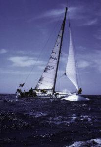 barca a vela spinta dal vento