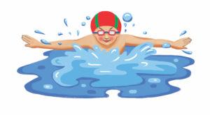 bimbo che nuota